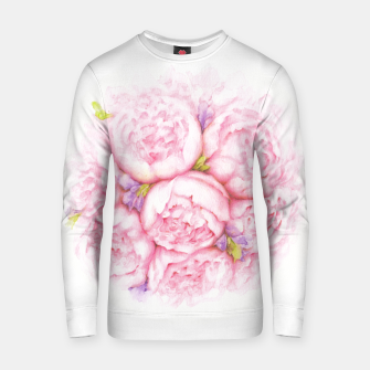 Thumbnail image of Pink Peonies Cotton sweater, Live Heroes