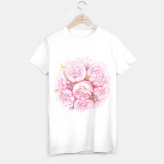 Thumbnail image of Pink Peonies T-shirt regular, Live Heroes