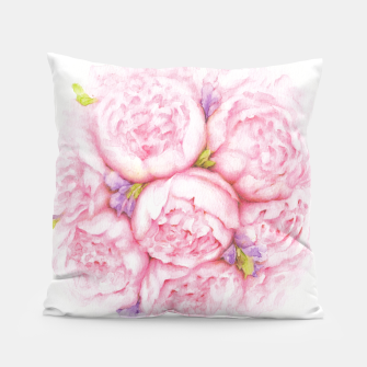 Thumbnail image of Pink Peonies Pillow, Live Heroes