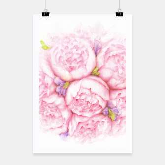 Thumbnail image of Pink Peonies Poster, Live Heroes