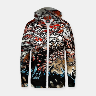 Thumbnail image of Rising Dragen Cotton zip up hoodie, Live Heroes