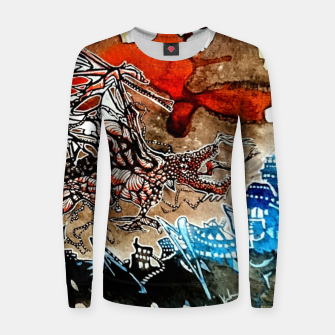 Thumbnail image of Rising Dragen Woman cotton sweater, Live Heroes