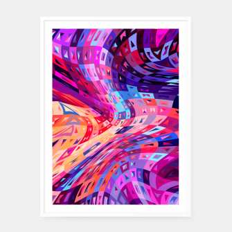 Miniatur Abstract Waves Framed poster, Live Heroes