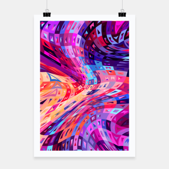 Miniatur Abstract Waves Poster, Live Heroes
