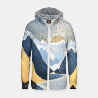Thumbnail image of Bright Future II Cotton zip up hoodie, Live Heroes