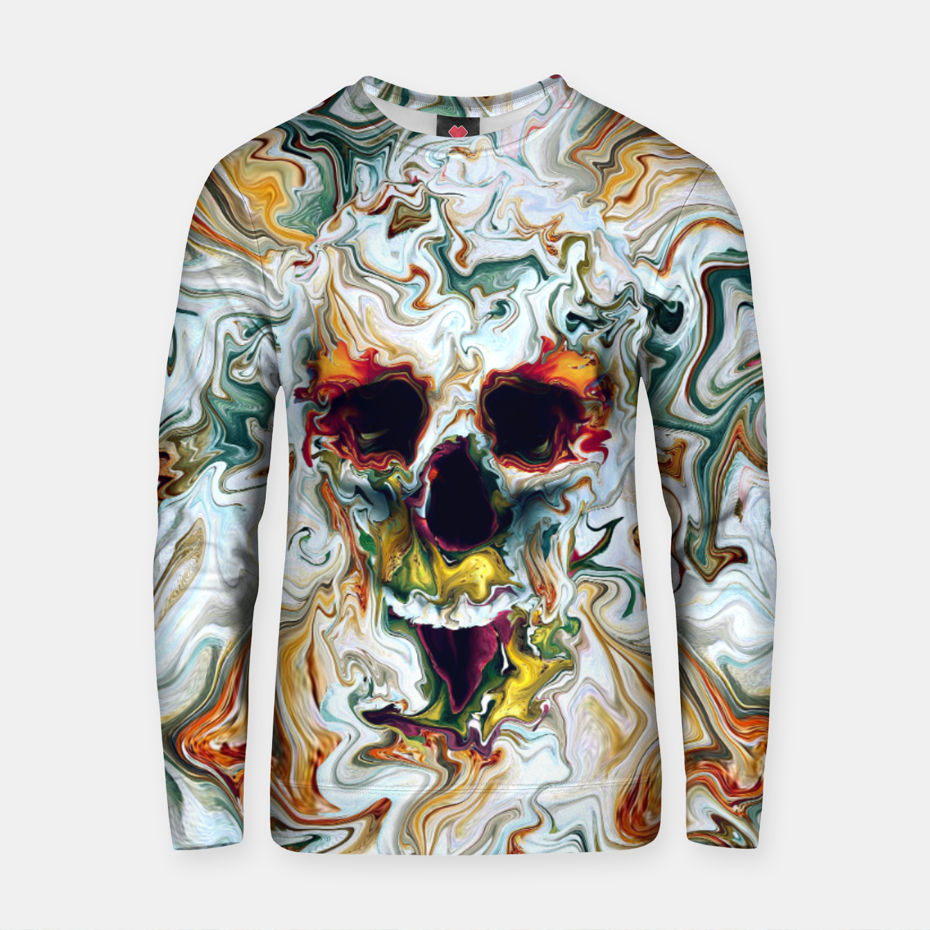 Foto Skull Cotton sweater - Live Heroes