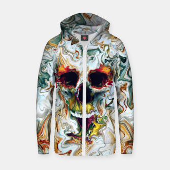 Thumbnail image of Skull Cotton zip up hoodie, Live Heroes