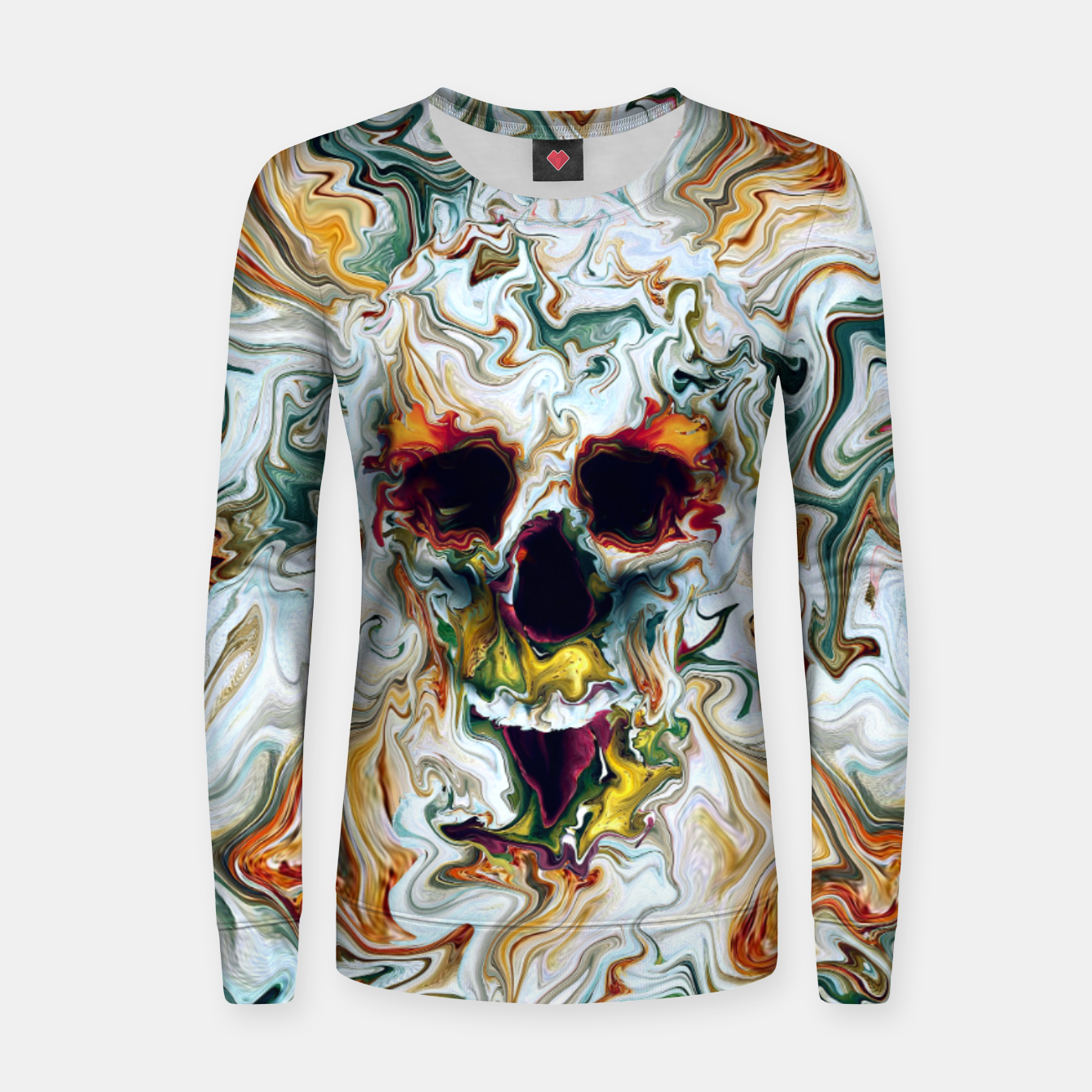 Foto Skull Woman cotton sweater - Live Heroes
