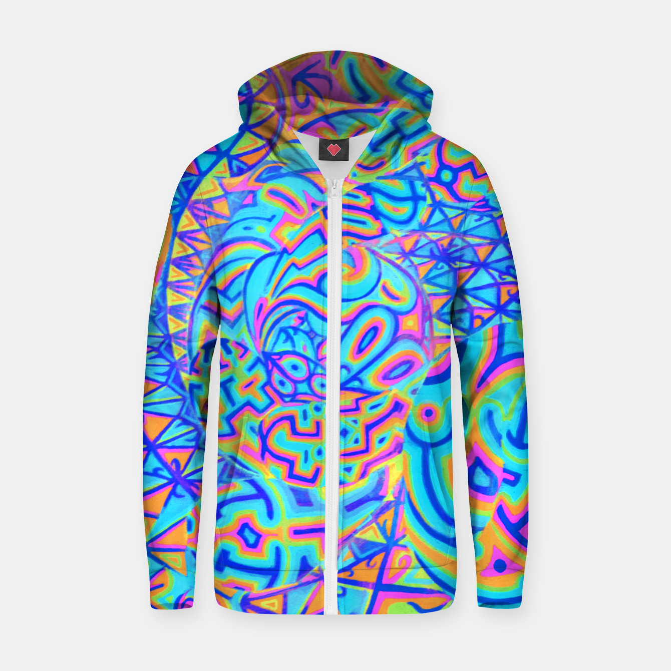 Image of Cool Light Portal Cotton zip up hoodie - Live Heroes