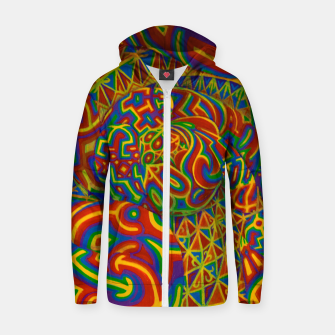 Thumbnail image of Warm Light Portal Cotton zip up hoodie, Live Heroes