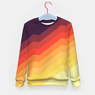 Thumbnail image of Geometric colorful art VII Kid's sweater, Live Heroes
