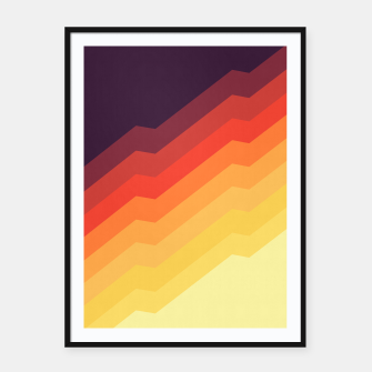 Thumbnail image of Geometric colorful art VII Framed poster, Live Heroes