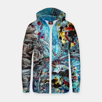 Thumbnail image of Under the sea Cotton zip up hoodie, Live Heroes