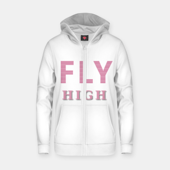Miniature de image de Fly High Cotton zip up hoodie, Live Heroes