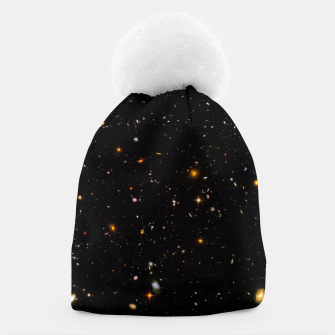 Thumbnail image of Beautiful Universe Ultraviolet Deepfield Galaxy Universe Star Map Beanie, Live Heroes