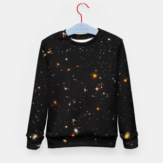 Thumbnail image of Beautiful Universe Ultraviolet Deepfield Galaxy Universe Star Map Kid's sweater, Live Heroes