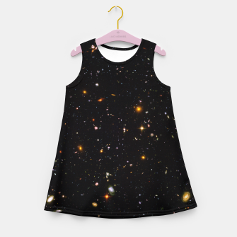 Thumbnail image of Beautiful Universe Ultraviolet Deepfield Galaxy Universe Star Map Girl's summer dress, Live Heroes