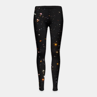 Thumbnail image of Beautiful Universe Ultraviolet Deepfield Galaxy Universe Star Map Girl's leggings, Live Heroes