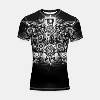 Thumbnail image of Tribal American Native Style Shortsleeve rashguard, Live Heroes