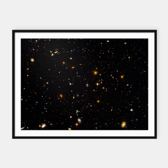 Thumbnail image of Beautiful Universe Ultraviolet Deepfield Galaxy Universe Star Map Framed poster, Live Heroes