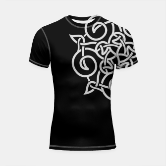 Thumbnail image of Celtic Vikings and Nordic Style Shortsleeve rashguard, Live Heroes