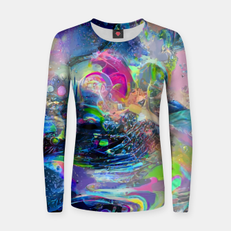 Thumbnail image of Reach Woman cotton sweater, Live Heroes