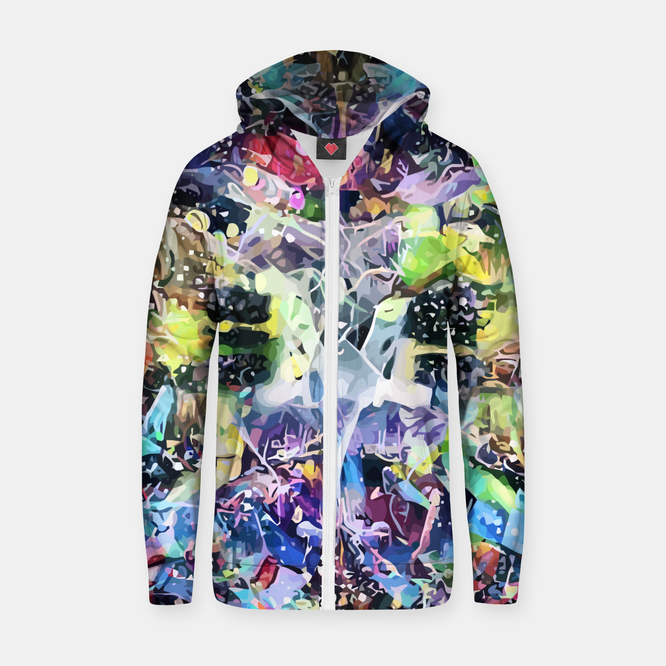 Image of Crow's Paintbrush Cotton zip up hoodie - Live Heroes