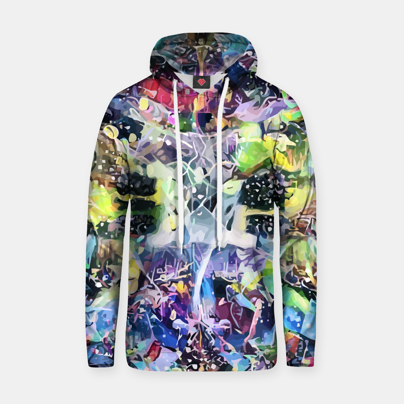 Image of Crow's Paintbrush Cotton hoodie - Live Heroes