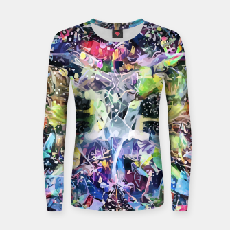 Thumbnail image of Crow's Paintbrush Woman cotton sweater, Live Heroes