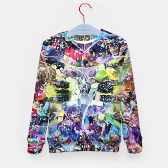 Thumbnail image of Crow's Paintbrush Kid's sweater, Live Heroes