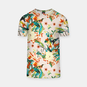 Thumbnail image of Hummingbirds in botanical flowering 01 Camiseta, Live Heroes