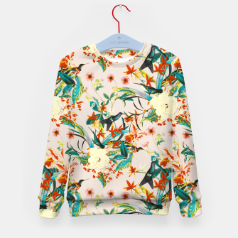 Miniaturka Hummingbirds in botanical flowering 01 Sudadera para niños, Live Heroes