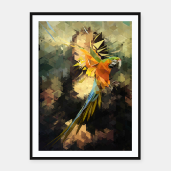 Thumbnail image of Parrot Distortion Framed poster, Live Heroes