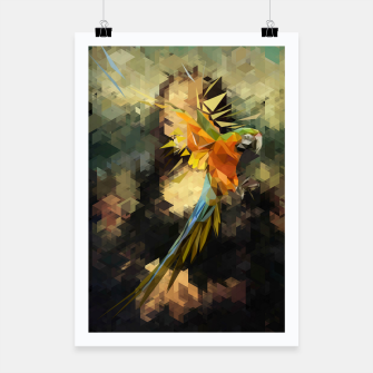 Thumbnail image of Parrot Distortion Poster, Live Heroes