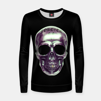 Miniaturka purp skull Woman cotton sweater, Live Heroes