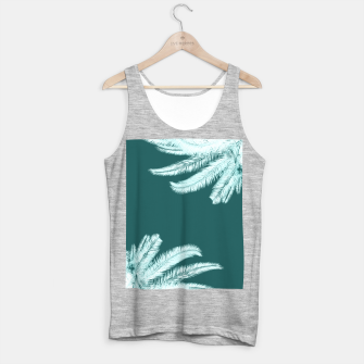 Thumbnail image of Palm leaves on teal Tank Top regular, Live Heroes