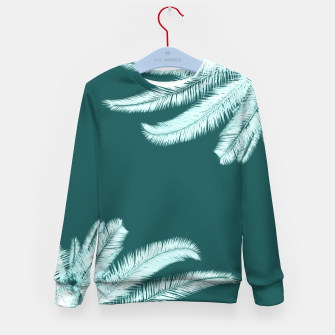 Thumbnail image of Palm leaves on teal Kid's sweater, Live Heroes