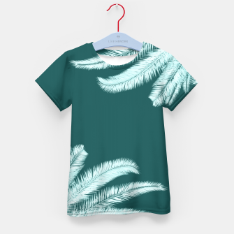 Thumbnail image of Palm leaves on teal Kid's t-shirt, Live Heroes