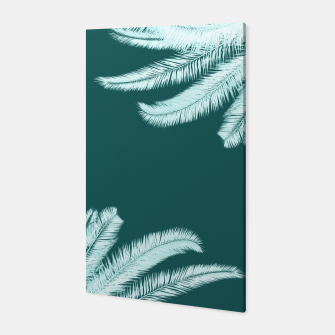 Thumbnail image of Palm leaves on teal Canvas, Live Heroes