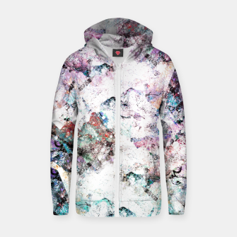 Thumbnail image of The mountains in the textures Cotton zip up hoodie, Live Heroes