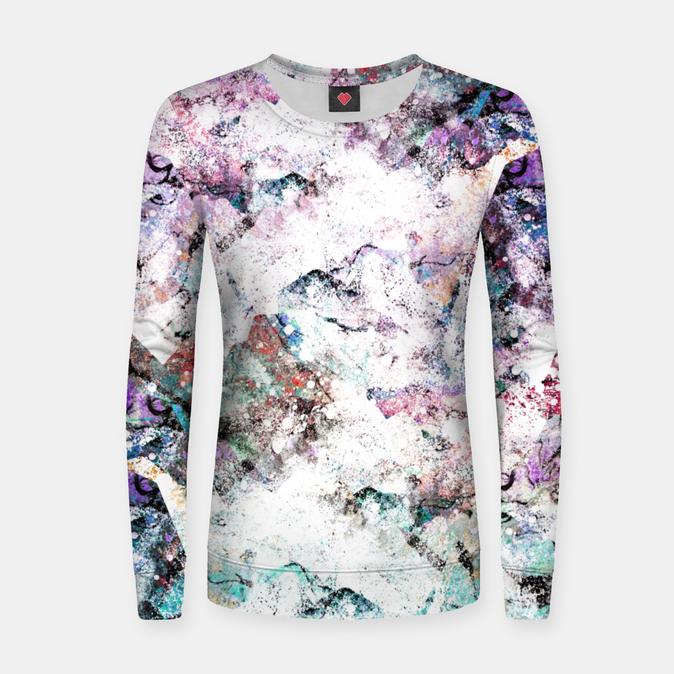 Image of The mountains in the textures Woman cotton sweater - Live Heroes