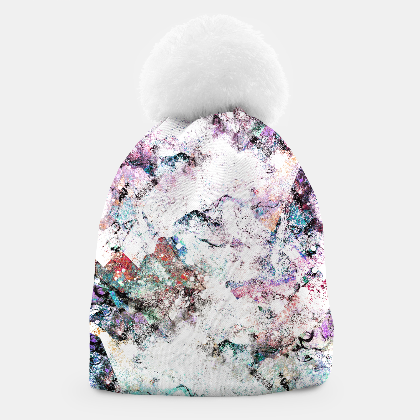 Image of The mountains in the textures Beanie - Live Heroes