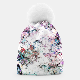 Thumbnail image of The mountains in the textures Beanie, Live Heroes