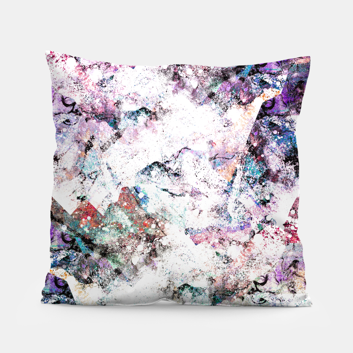 Image of The mountains in the textures Pillow - Live Heroes