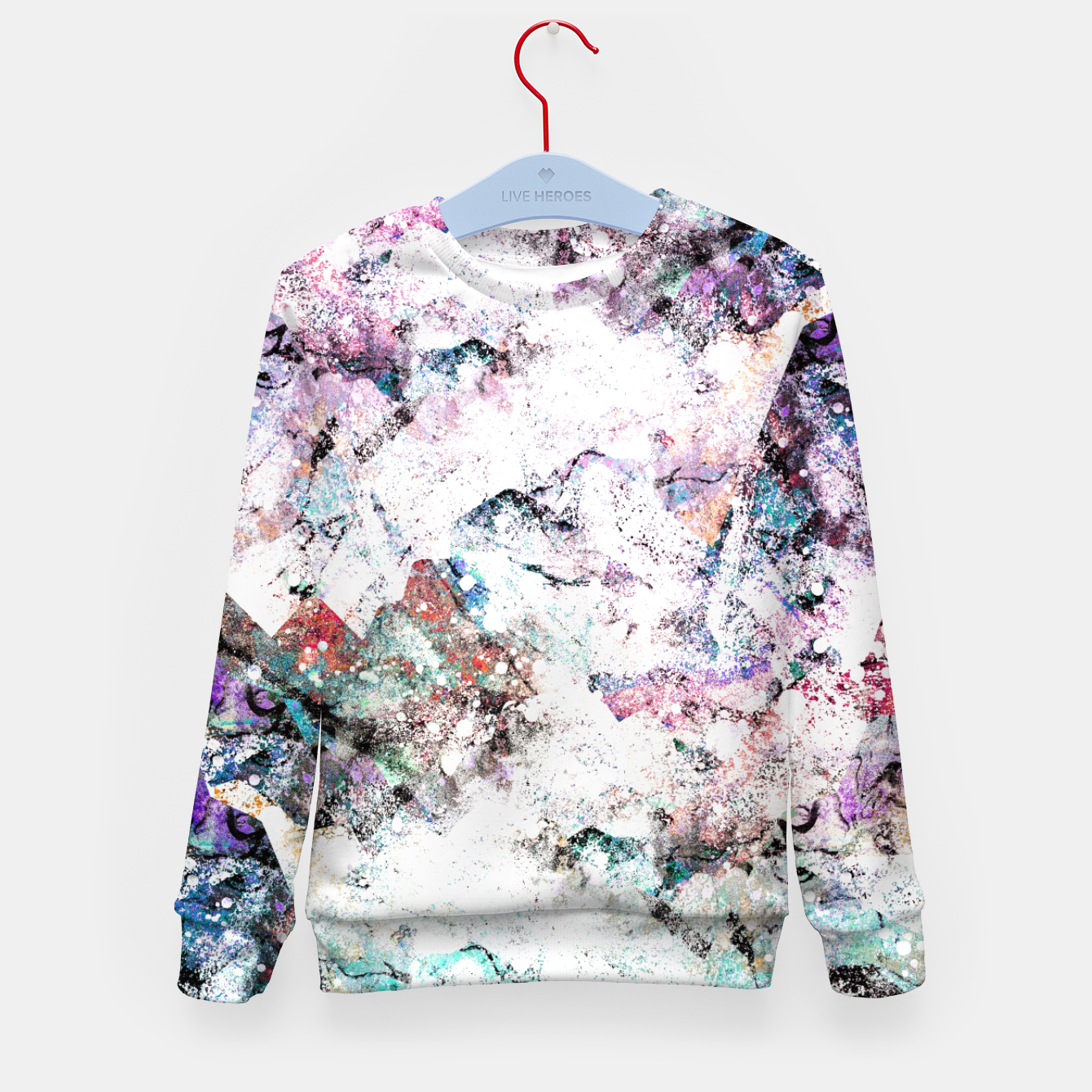Image of The mountains in the textures Kid's sweater - Live Heroes
