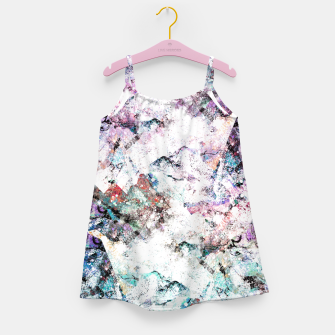 Thumbnail image of The mountains in the textures Girl's dress, Live Heroes
