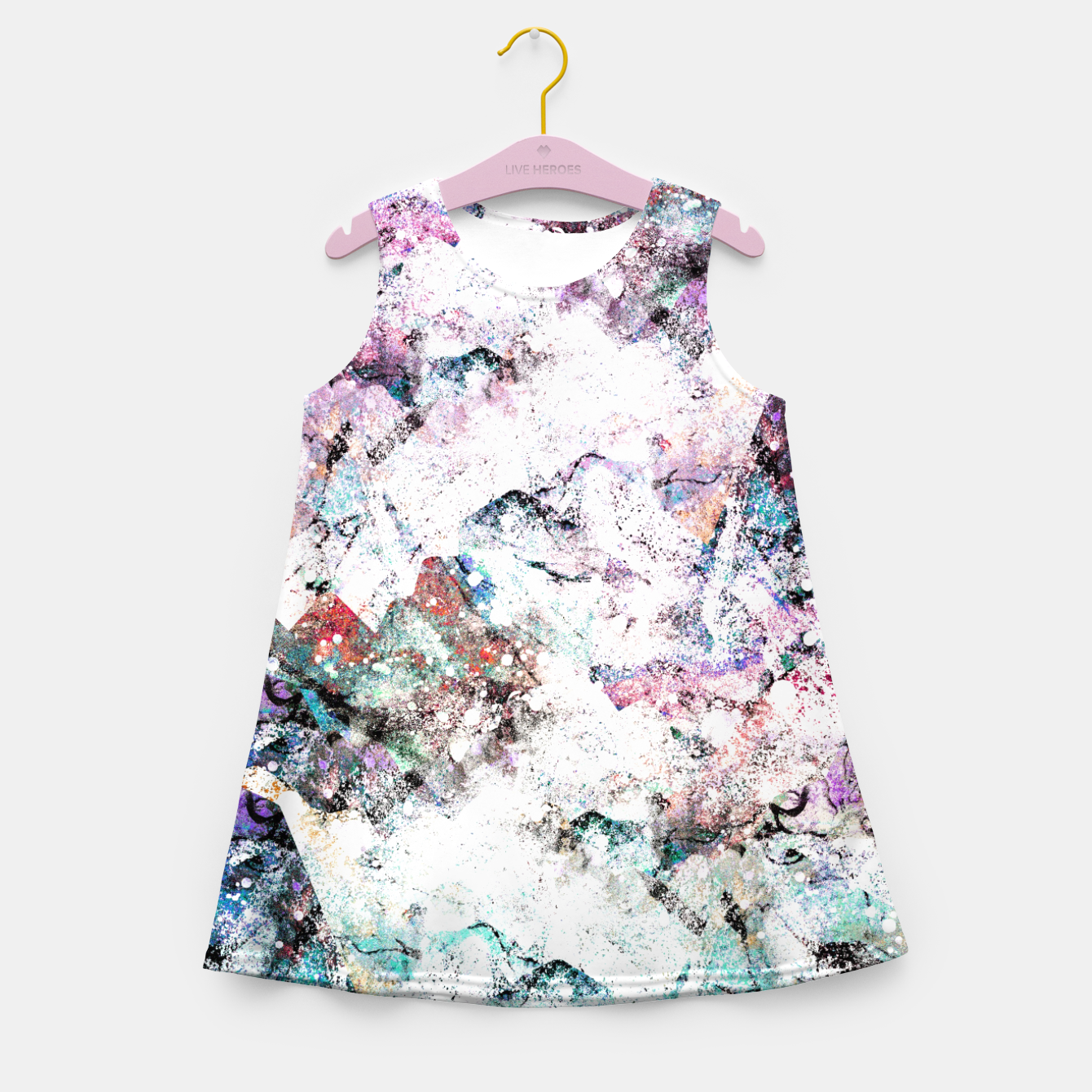 Image of The mountains in the textures Girl's summer dress - Live Heroes
