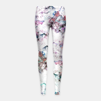 Thumbnail image of The mountains in the textures Girl's leggings, Live Heroes