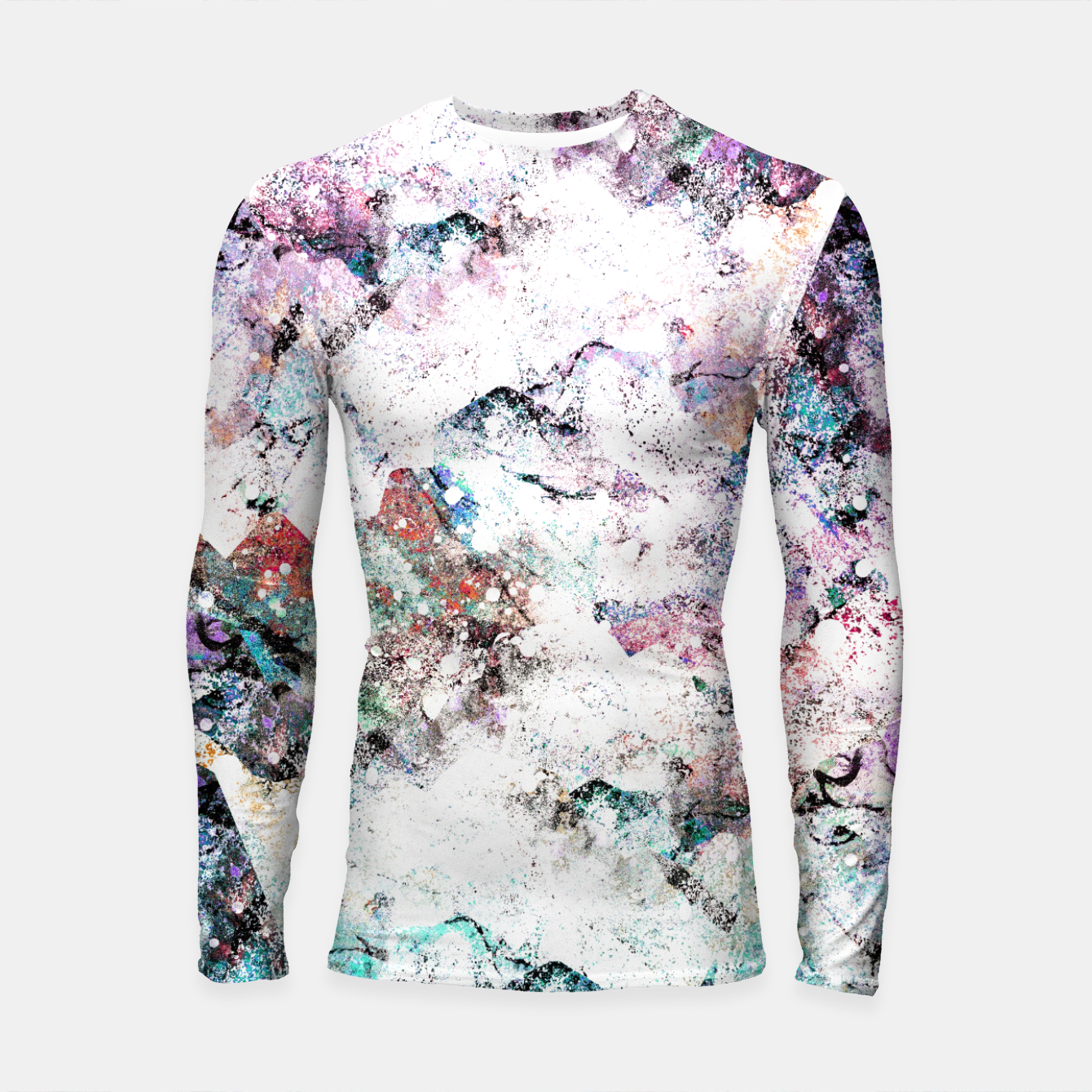Foto The mountains in the textures Longsleeve rashguard  - Live Heroes