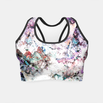 Thumbnail image of The mountains in the textures Crop Top, Live Heroes
